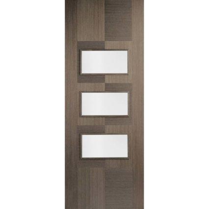 LPD Doors Chocolate Grey Apollo Glazed 3L - 1981mm-x-686mm-x-35mm