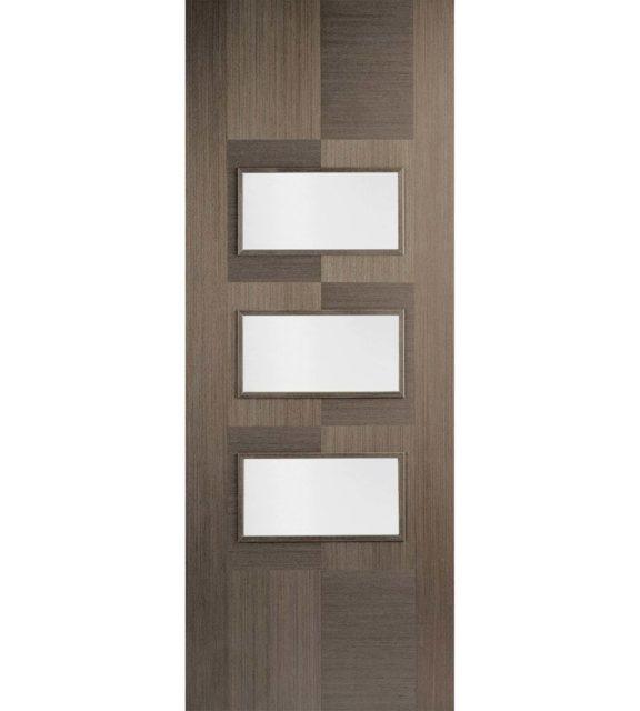 LPD Doors Chocolate Grey Apollo Glazed 3L Interior Door