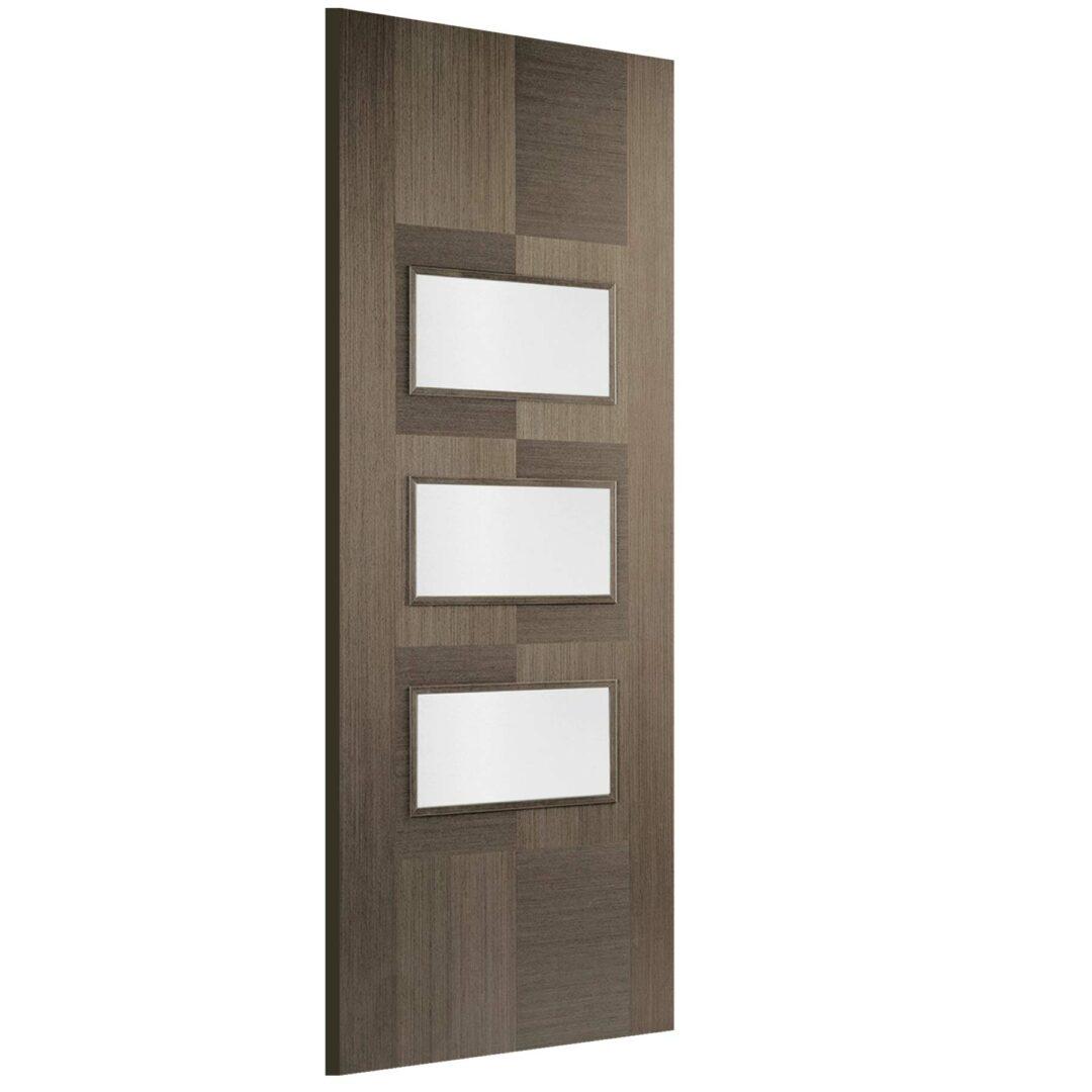 LPD Doors Chocolate Grey Apollo Glazed 3L Internal Door