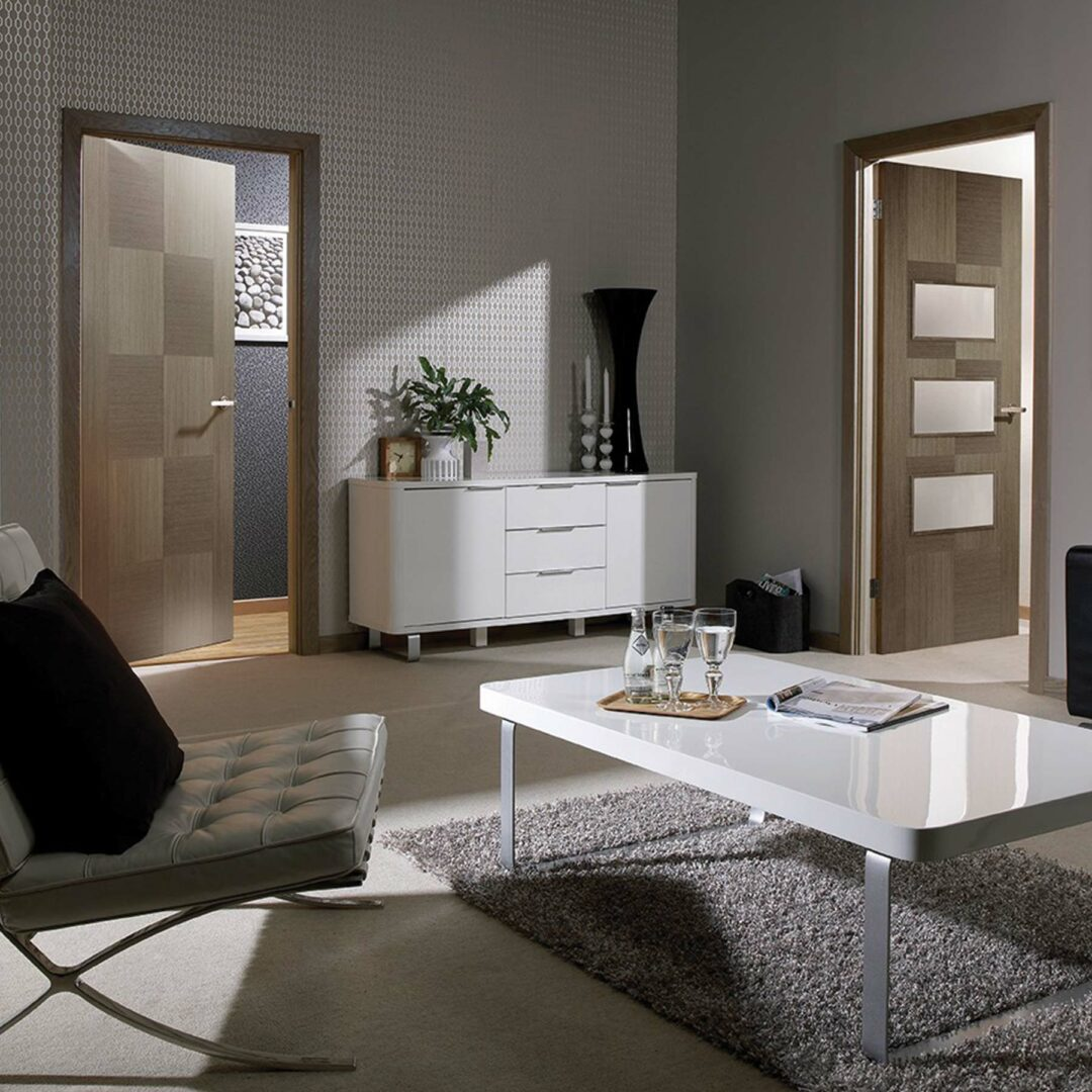 LPD Doors Chocolate Grey Apollo and Apollo Glazed