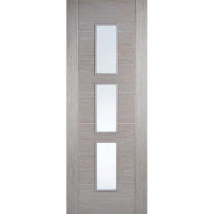 LPD Doors Light Grey Hampshire Glazed - 1981mm-x-686mm-x-35mm