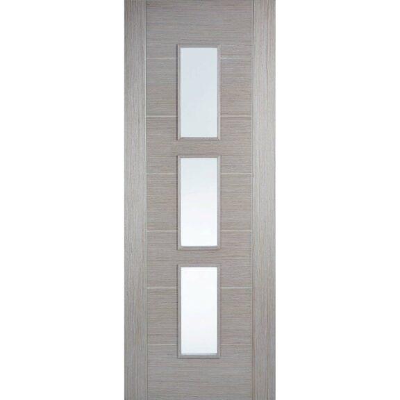 LPD Doors Light Grey Vancouver Glazed