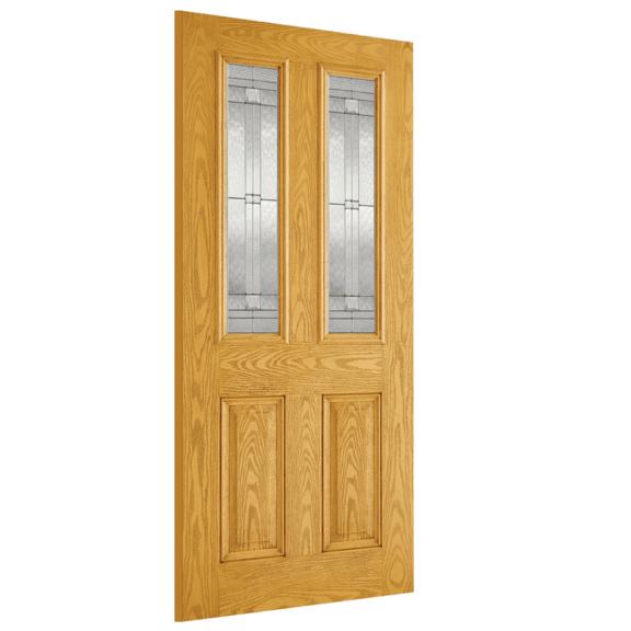 lpd doors malton oak glazed 2l exterior door