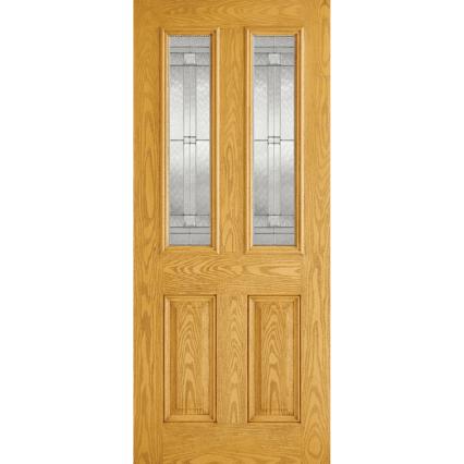 LPD Doors GRP Malton Oak Glazed 2L External Door - 1981mm-x-838mm-x-44mm