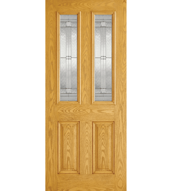 lpd doors malton oak glazed 2l external door
