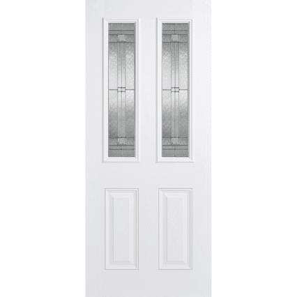 LPD Doors GRP Malton White Glazed 2L External Door - 1981mm-x-838mm-x-44mm