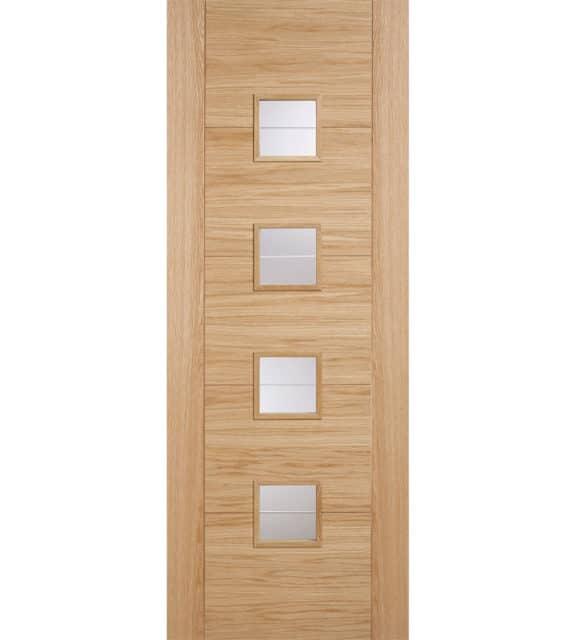 lpd doors oak vancouver glazed 4l brilliant cut glass internal door
