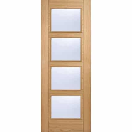 LPD Doors Oak Vancouver Glazed 4L - 1981mm-x-610mm-x-35mm