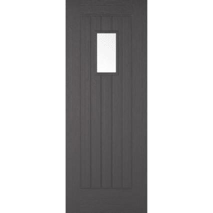 LPD Doors Charcoal Grey Embossed Suffolk 1L External Door - 1981mm-x-762mm-x-44mm
