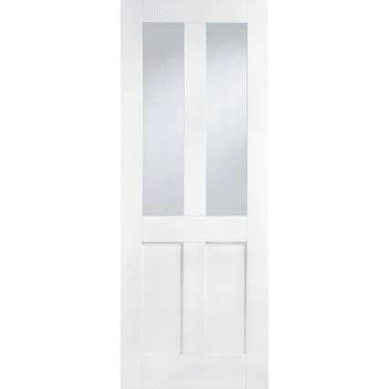 White London 4 Panel Internal Door with Glass - 1981mm-x-686mm-x-35mm