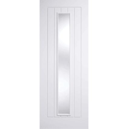 LPD Doors White Mexicano Glazed 1L Internal Door - 1981mm-x-686mm-x-35mm