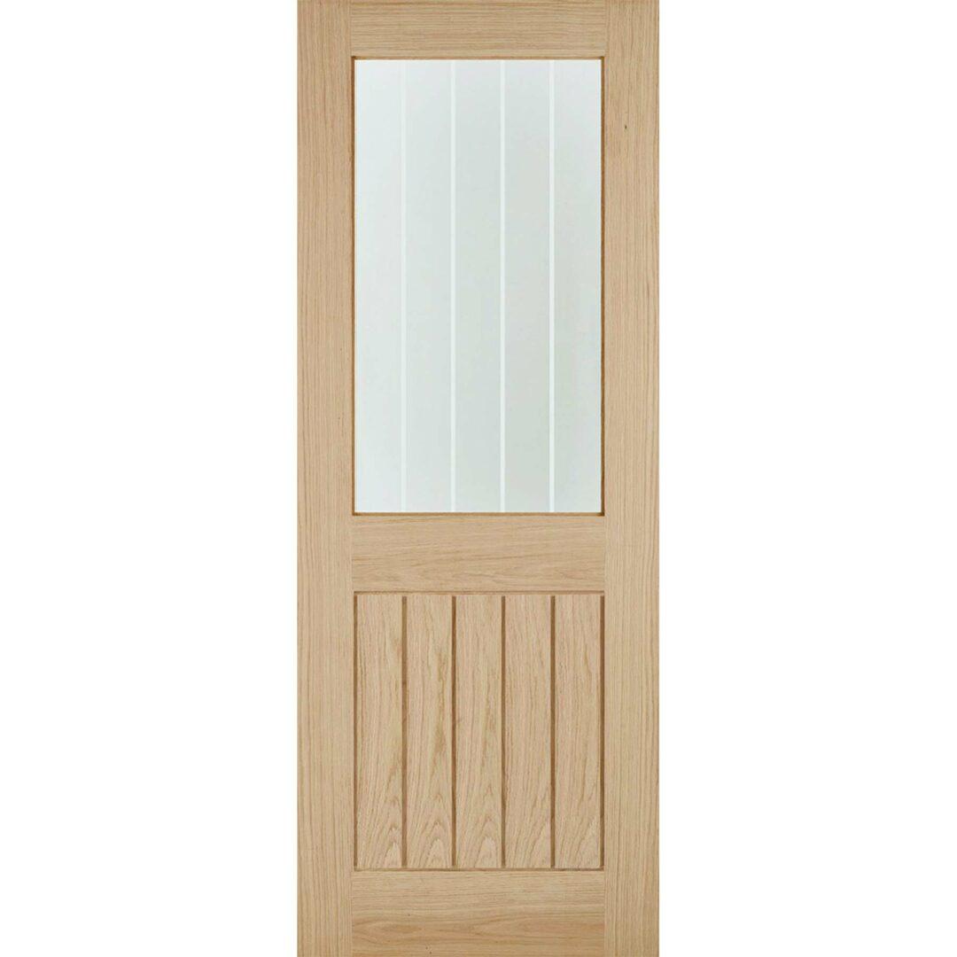 lpd oak belize 1l clear glazed door