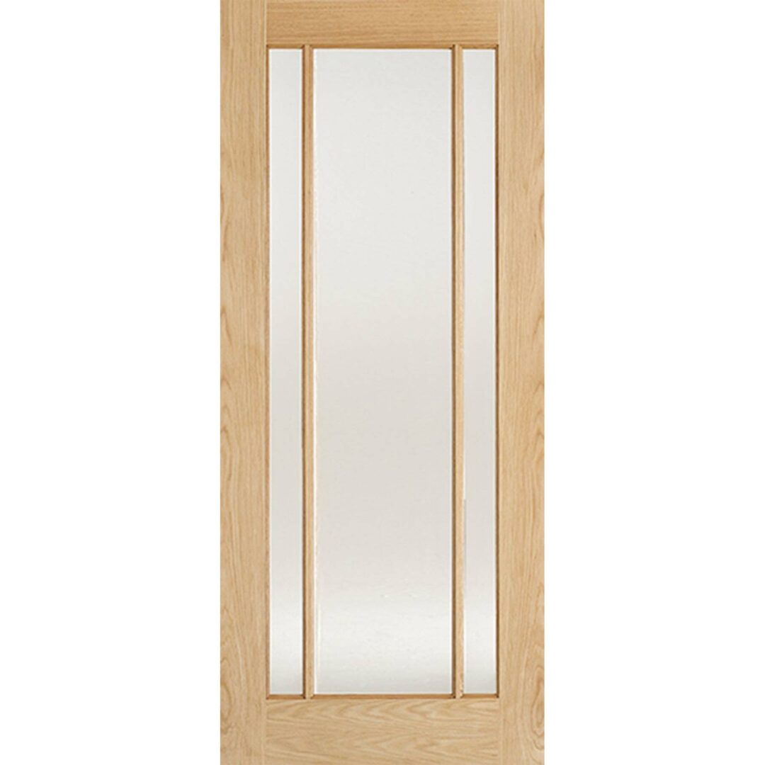 LPD Oak Lincoln 3L Glass Interior Door