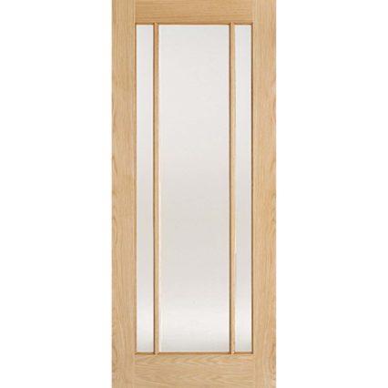 LPD Doors Oak Lincoln Glazed 3L Clear Glass - 1981mm-x-533mm-x-35mm