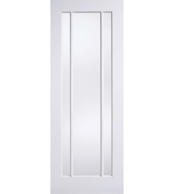 LPD White Lincoln Clear Glass Door