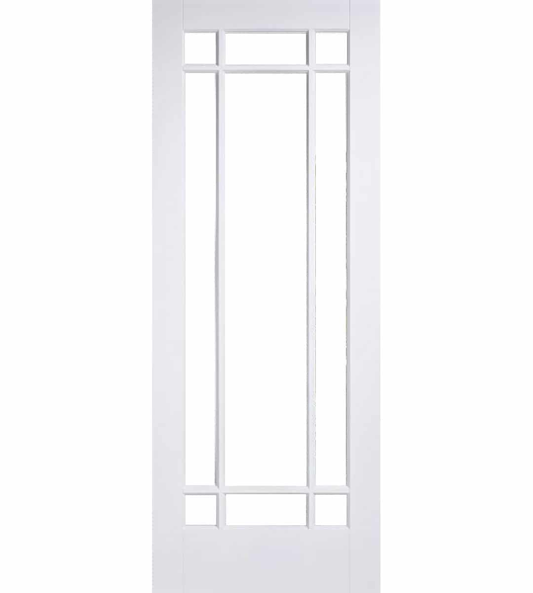 Manhattan White Internal Door with Clear Bevelled Glass - 1981mm-x-686mm-x  sc 1 st  Shawfield Doors & Manhattan White Internal Door with Clear Bevelled Glass | Shawfield ...