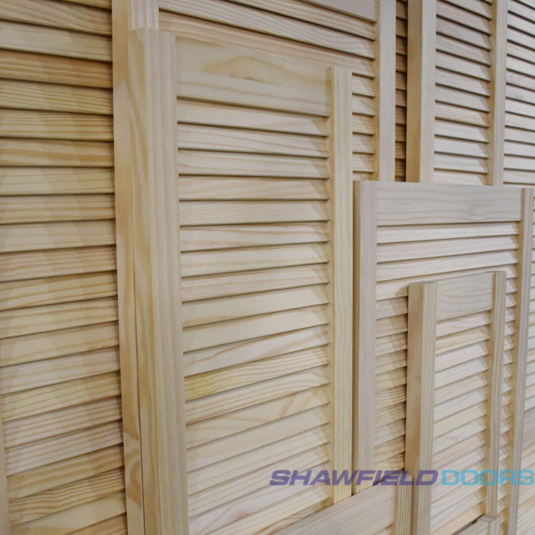 masons timber pine louver doors