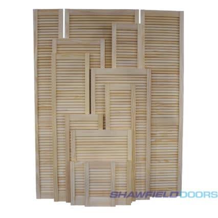 Pine Louvre Doors - 457mm-x-305mm-x-28mm