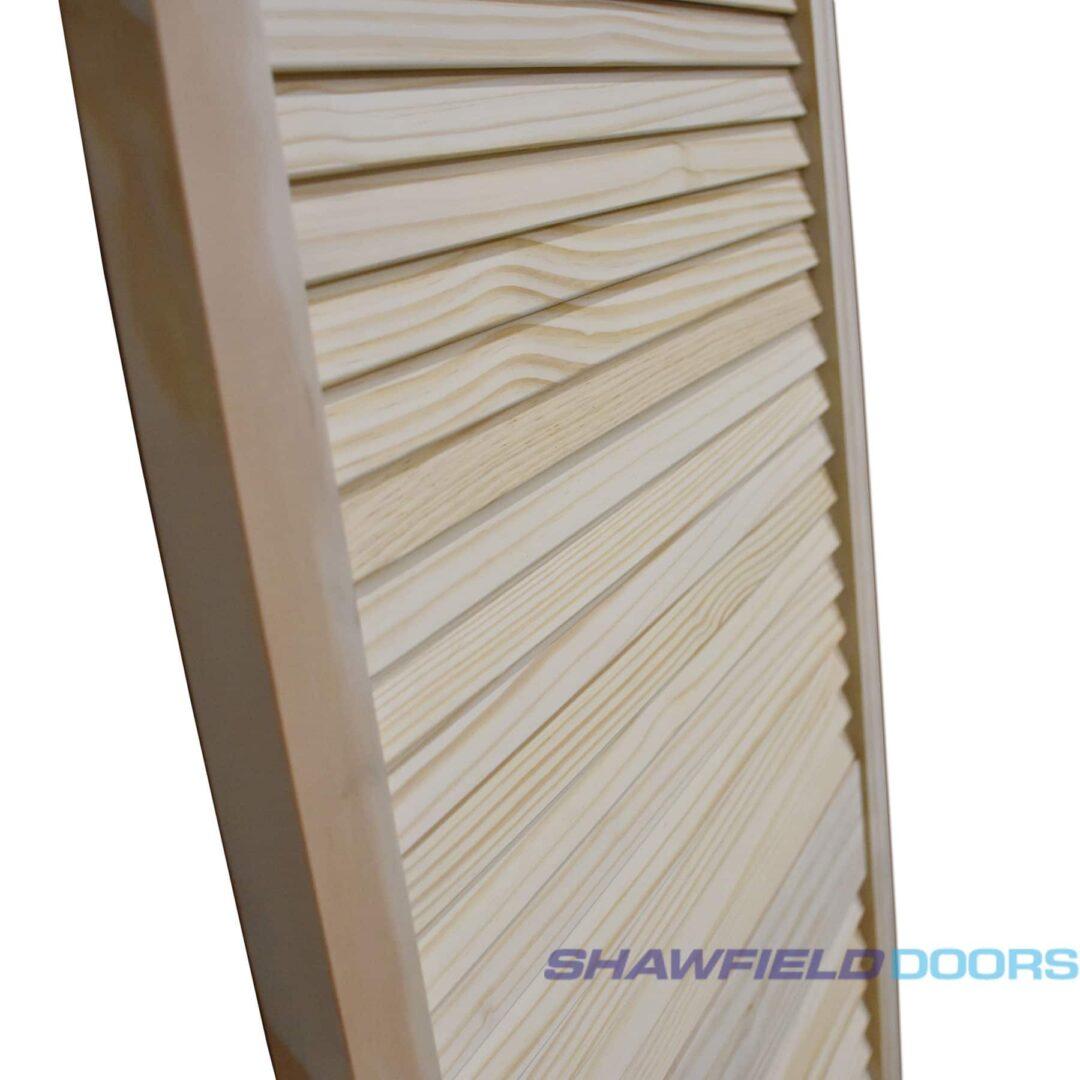 masons timber pine louvred door