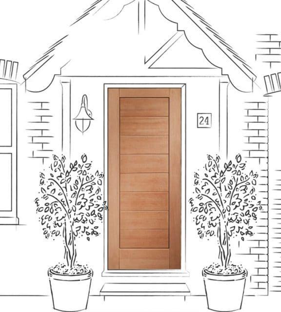 modena external front door exterior door