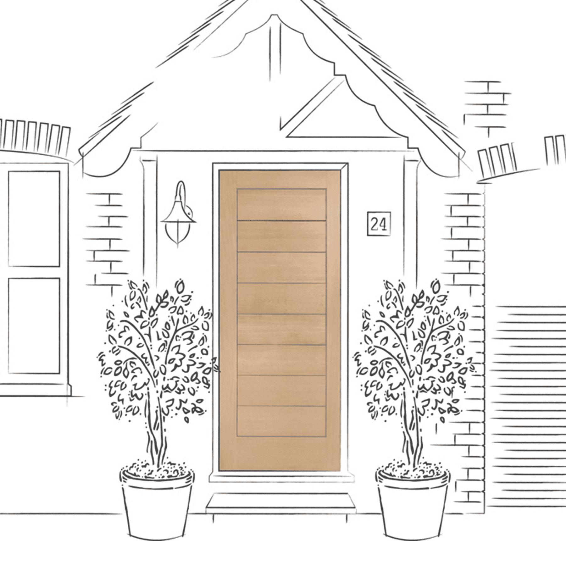 Modena External Oak Door
