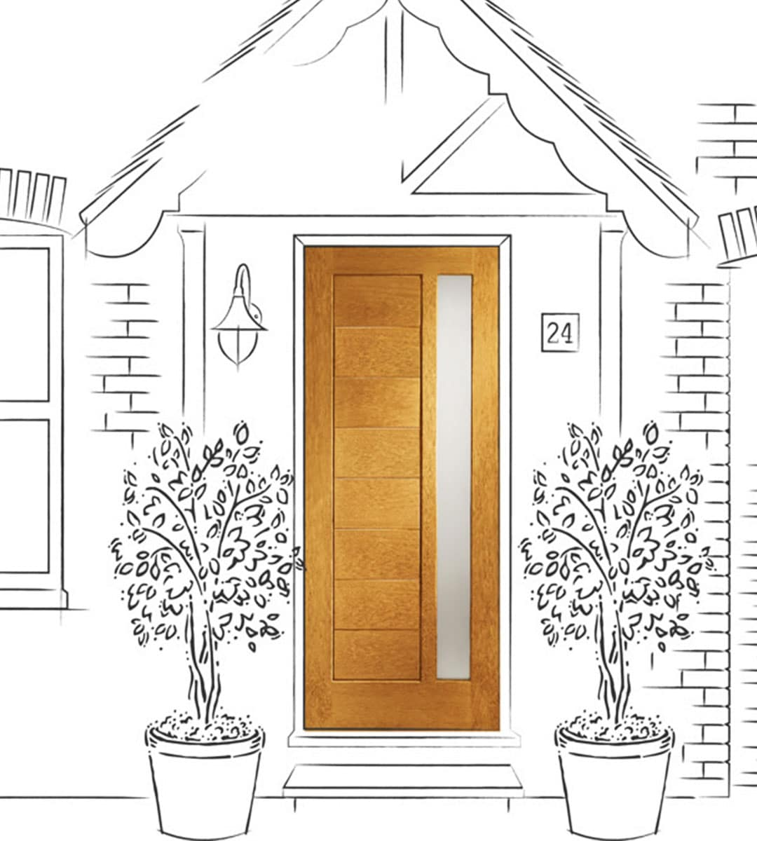 modena external glass front door