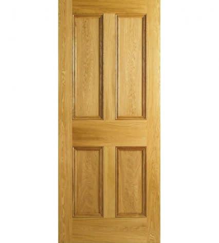 Oak Internal Moulded 4 Panel Door - 2032mm-x-813mm-x-35mm