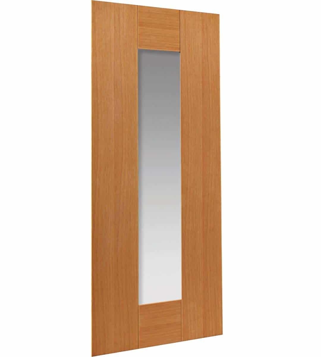 axis internal oak glazed door