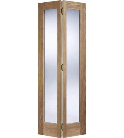 Pattern 10 Oak BiFold Glazed Door - 1981mm-x-686mm-x-35mm
