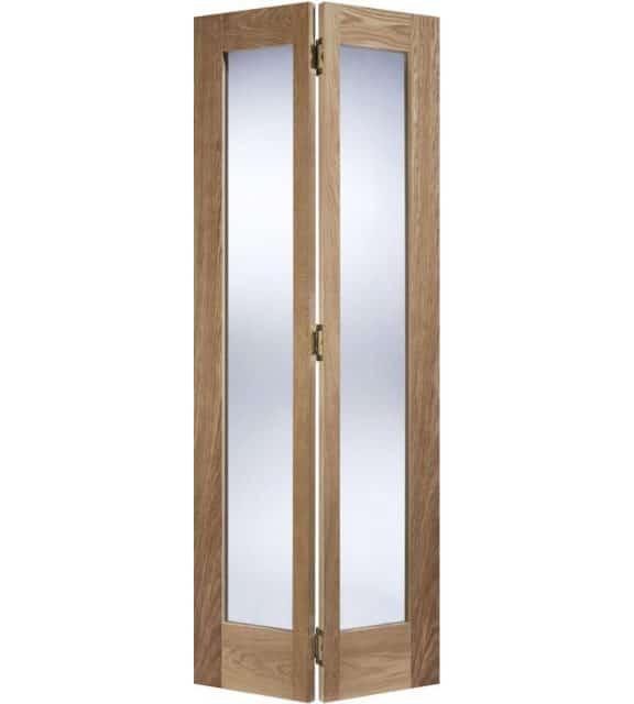 oak pattern 10 glazed bifolding door