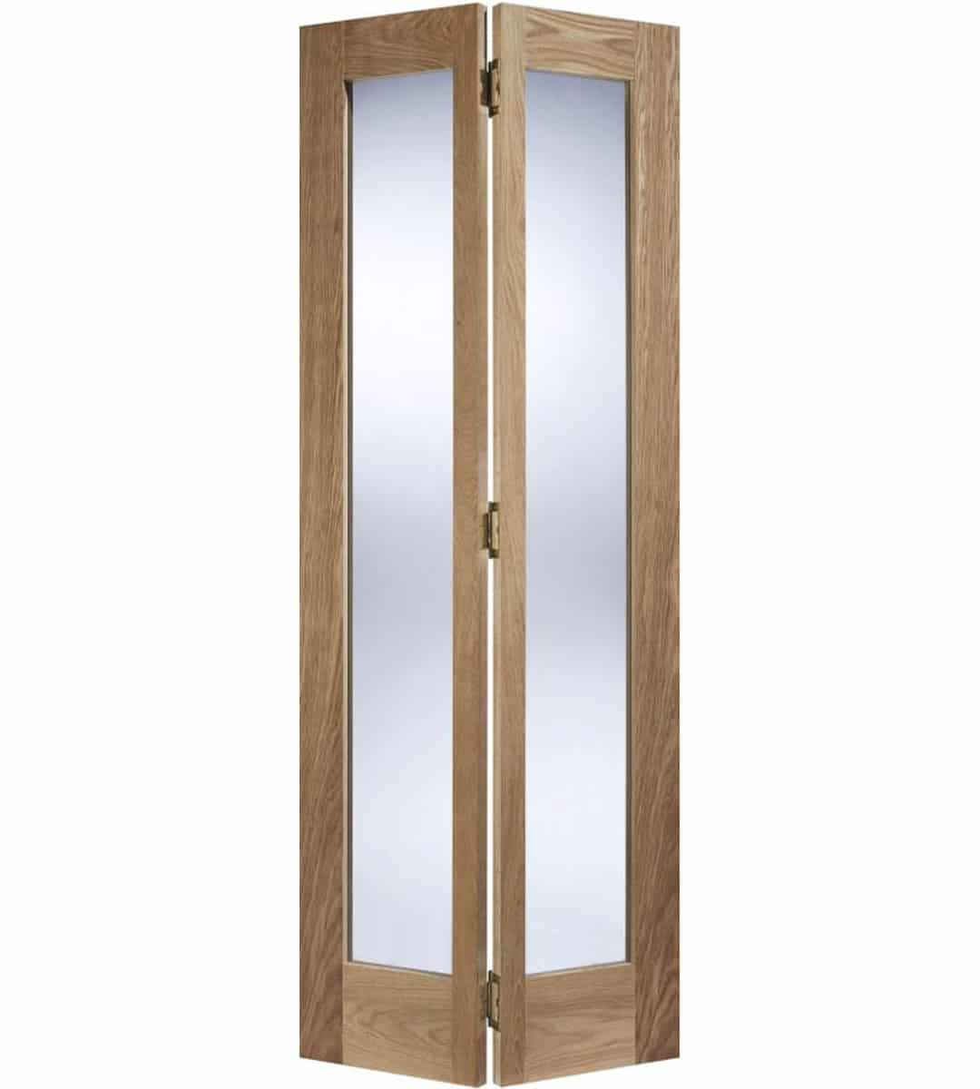 oak pattern 10 glazed bifolding door