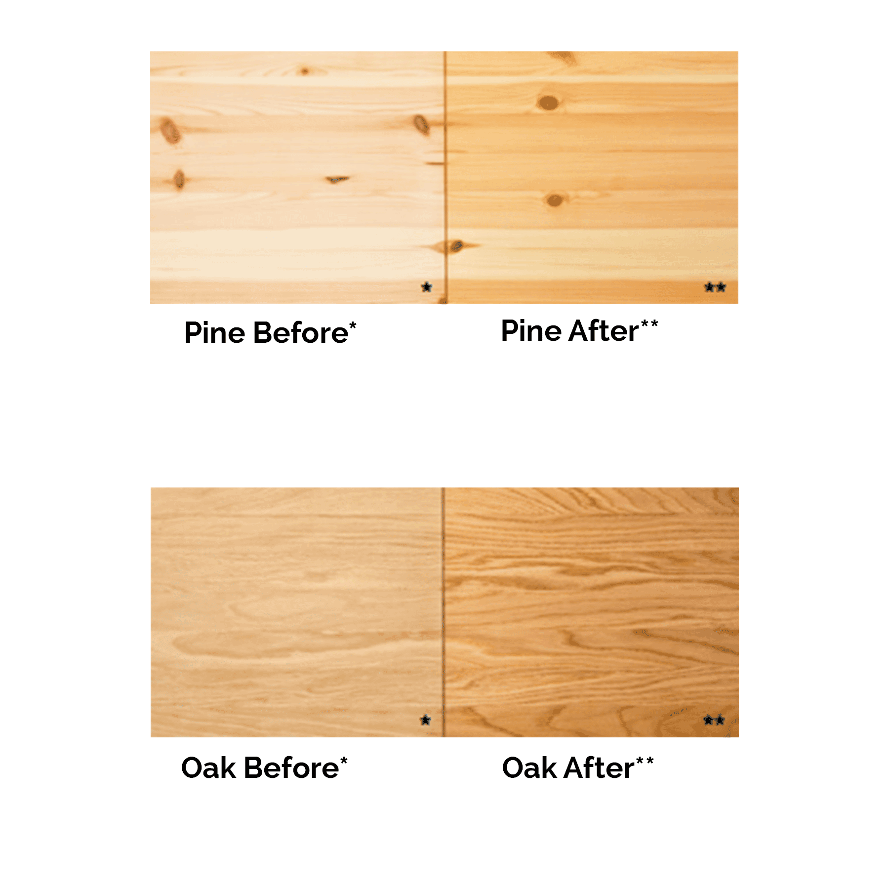 Osmo Oil Finish Before And After Oiling