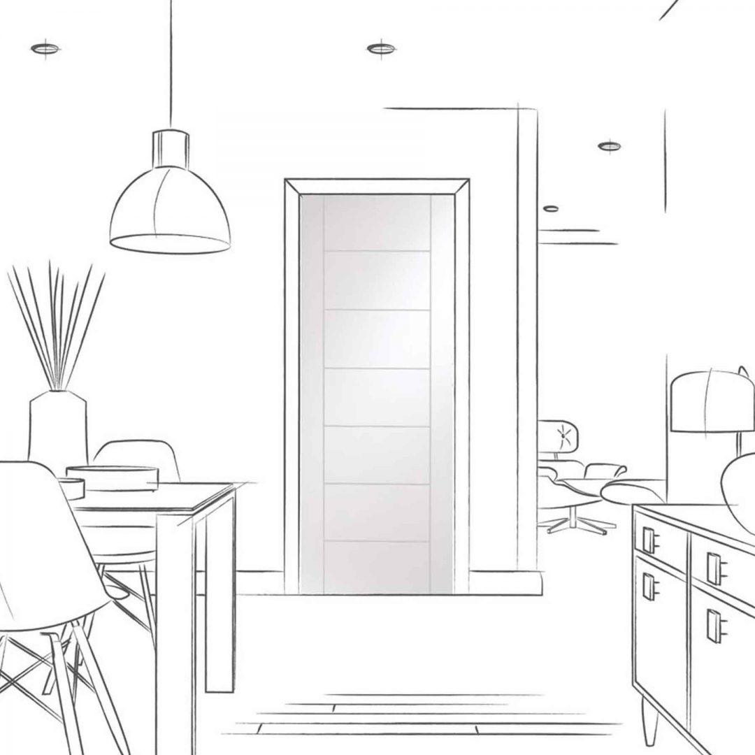 palermo internal white interior door