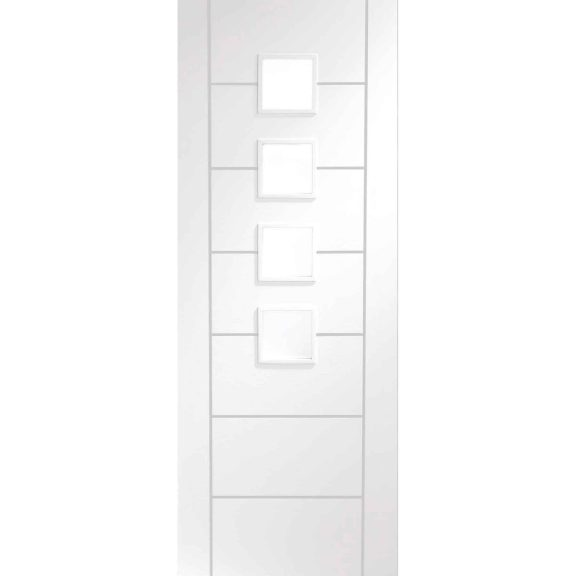 palermo internal white primed obscure glass door