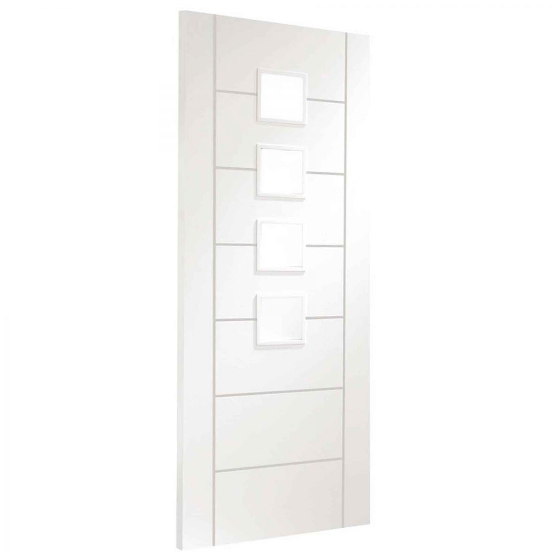 palermo white door with obscure glass