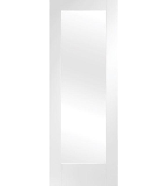 pattern 10 glazed white door