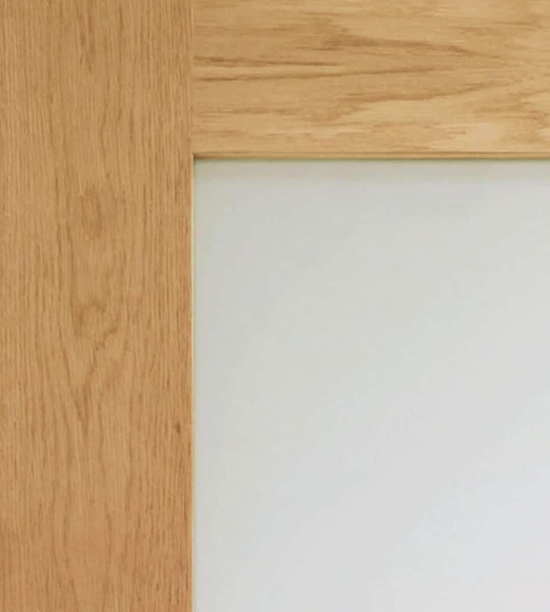 Pattern 10 Internal Oak Door with Clear Glass Closeup