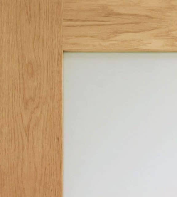 Pattern 10 Internal Oak Door with Obscure Glass Closeup
