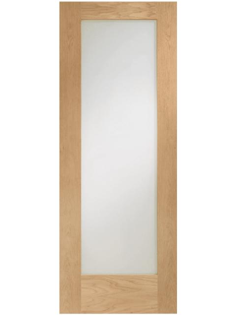 Pattern 10 Internal Oak Door with Obscure Glass