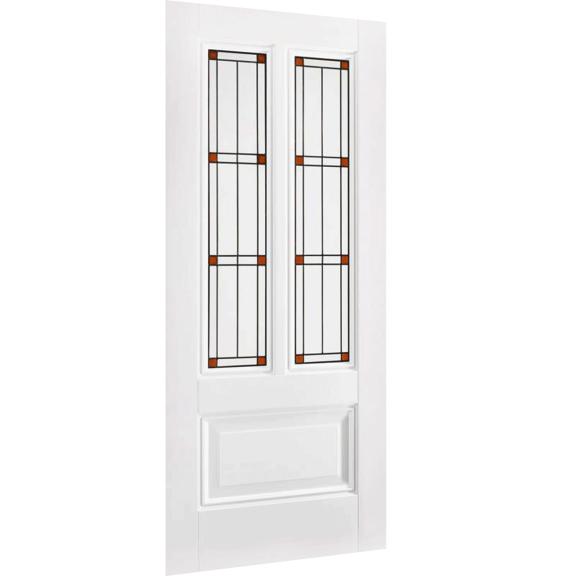 Peony 2L White Interior Door with Lead