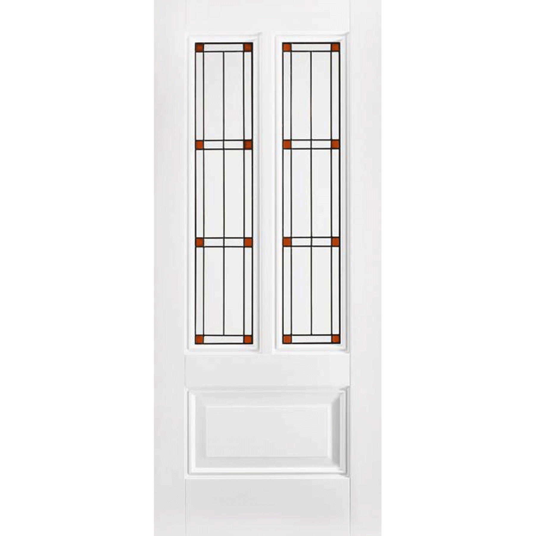 Peony 2L White Internal Door with Lead