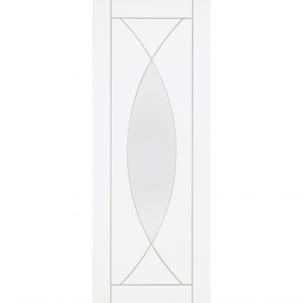 Pesaro White Internal Clear Glass Door - 1981mm-x-610mm-x-35mm