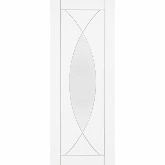 pesaro internal white door clear glass