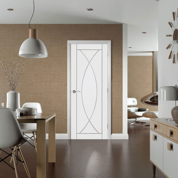 pesaro white door interior room
