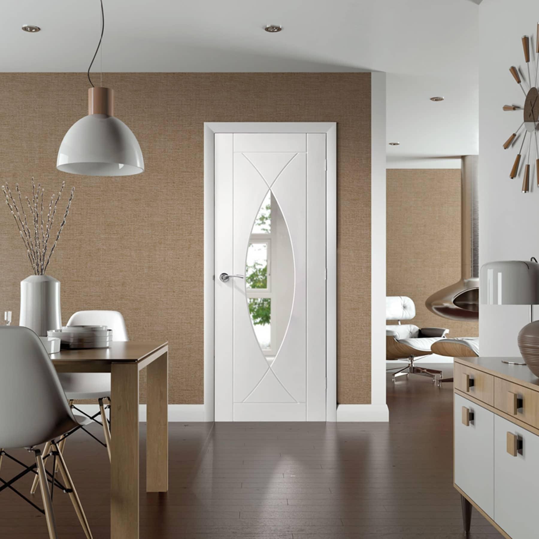pesaro white glass door interior room