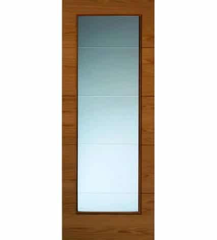 JB Kind Royale Modern VT5 Oak Internal Glazed Door - 1981mm-x-686mm-x-35mm