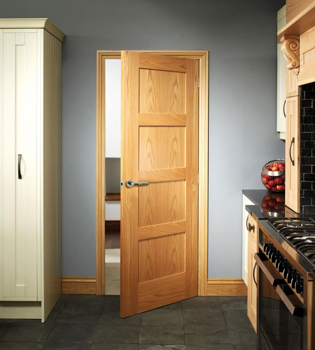 shaker internal oak 4 panel bedroom door