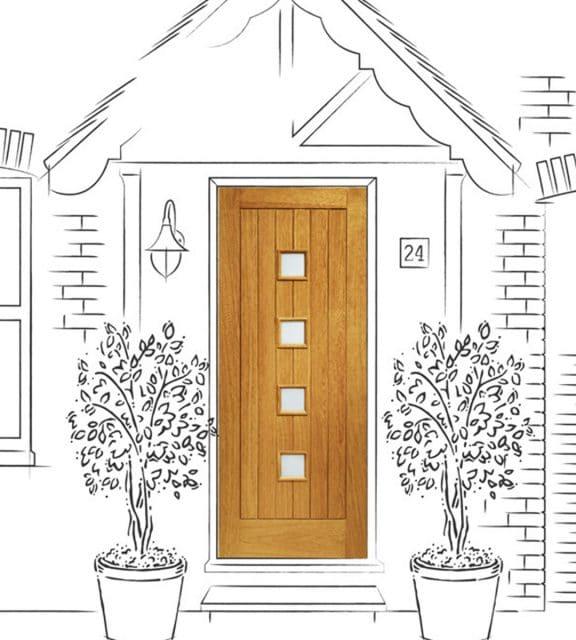 siena exterior front door