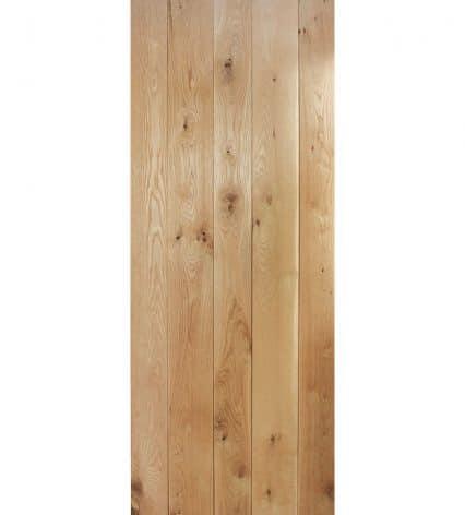 Solid Oak Framed & Ledged Internal Oak Door - 1981mm-x-610mm-x-35mm