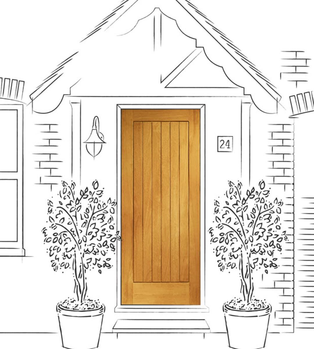 suffolk oak external front door